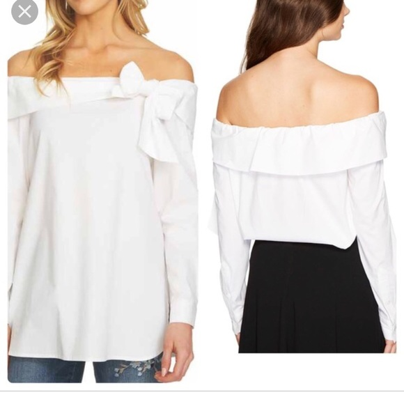 7eb288722bce89 Nordstrom Tops | Cece By Cynthia Steffe White Off Shoulder Top ...